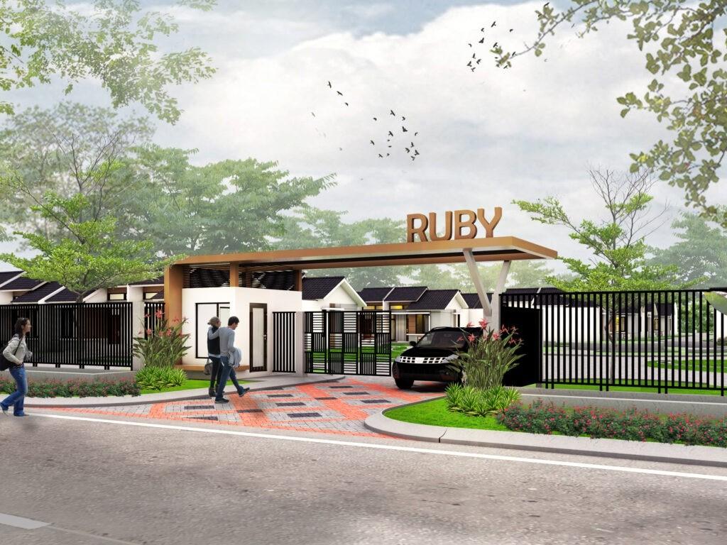 Cluster Rubi perumahan komersil Permata Mutiara Maja