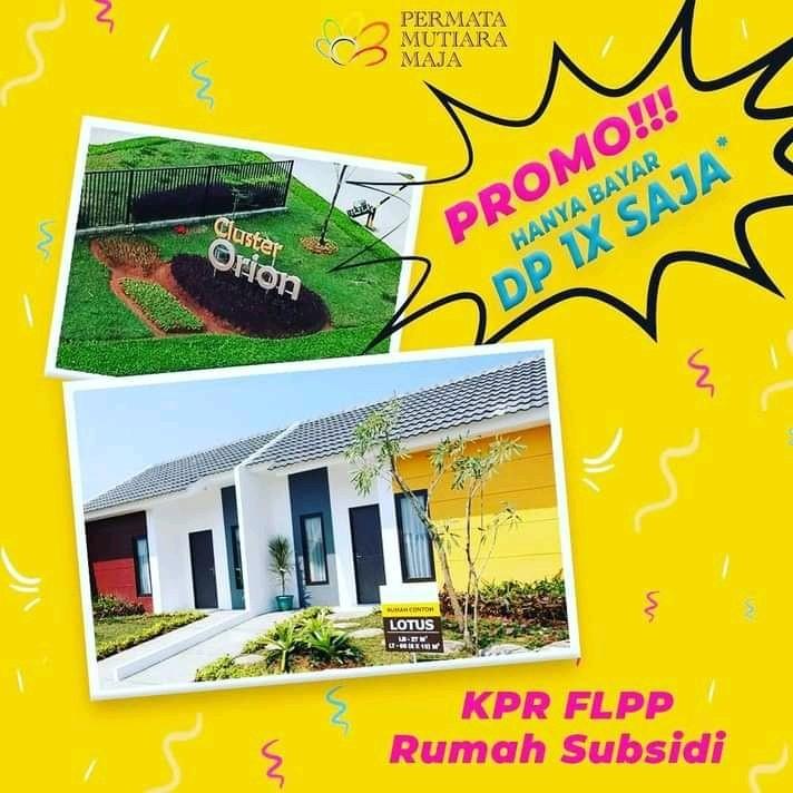 Permata Mutiara Maja Harga Promo Rumah Subsidi KPR FLPP 2021